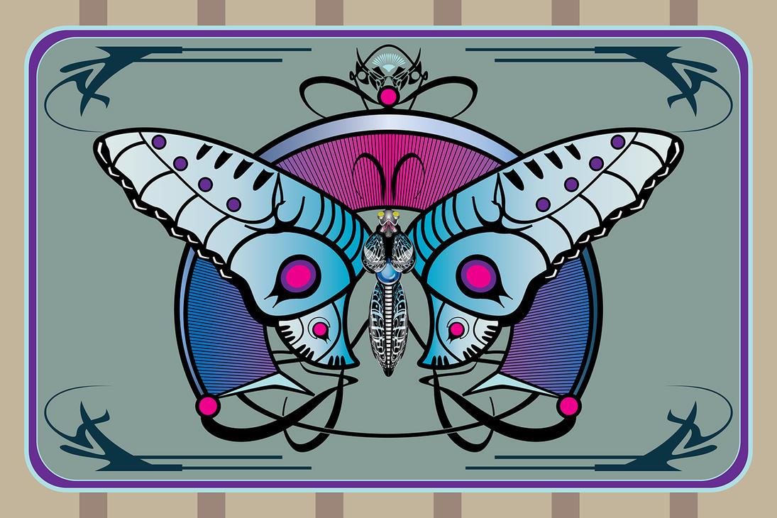 Butterfly Nouveau web by LucasMonster
