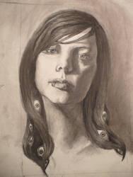 Self Portrait with Eyeballs by rabbitears