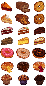 Various Baked Goods by MagpieOnMars