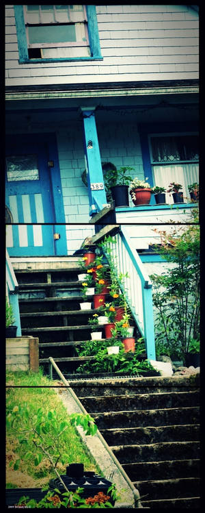 Flower pot stairs