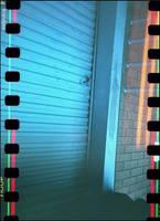 little turquoise door