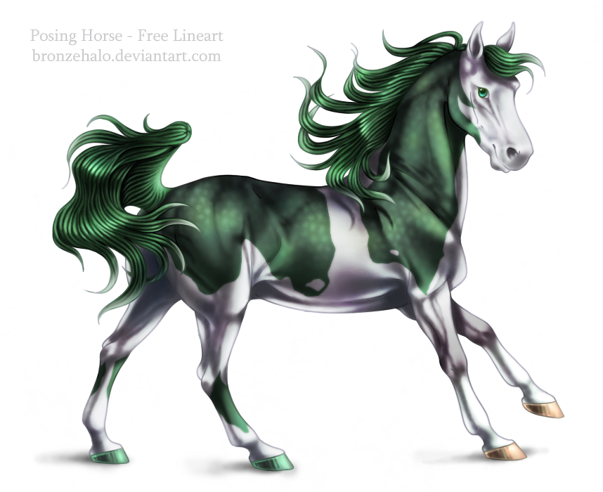Deviantarts Robot Horse: Free Lineart: Posing Horse By BronzeHalo On DeviantArt