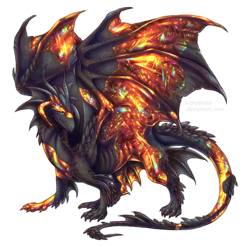 Day 8 Fire Opal Dragon By BronzeHalo On DeviantArt