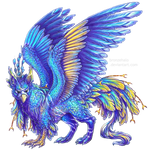 Peacock griffon by BronzeHalo
