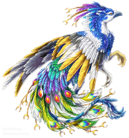 Pied peacock griffon by BronzeHalo