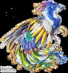 Pied peacock griffon