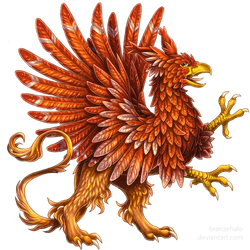 Heraldic griffon by BronzeHalo