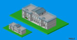 Isometric Irish state house