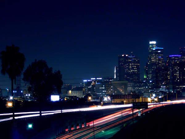 Los Angeles at night. by TrashyDiamond