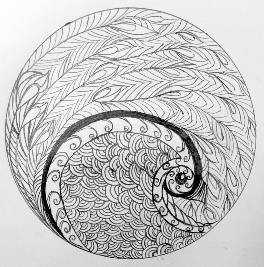 Craptastic Bird Zentangle by obsessedsokkafangirl