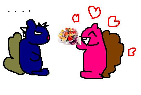 Squirrel Love by Le-petit-chat-noir