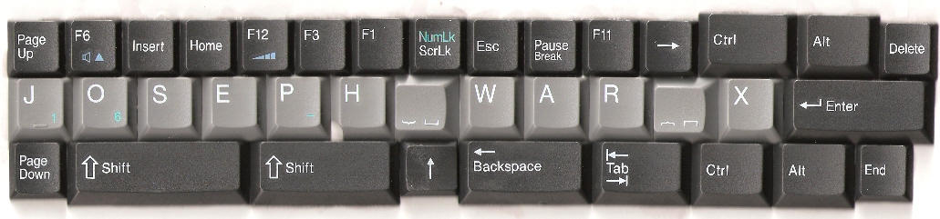 Keyboard Joseph War X by Joseph2185