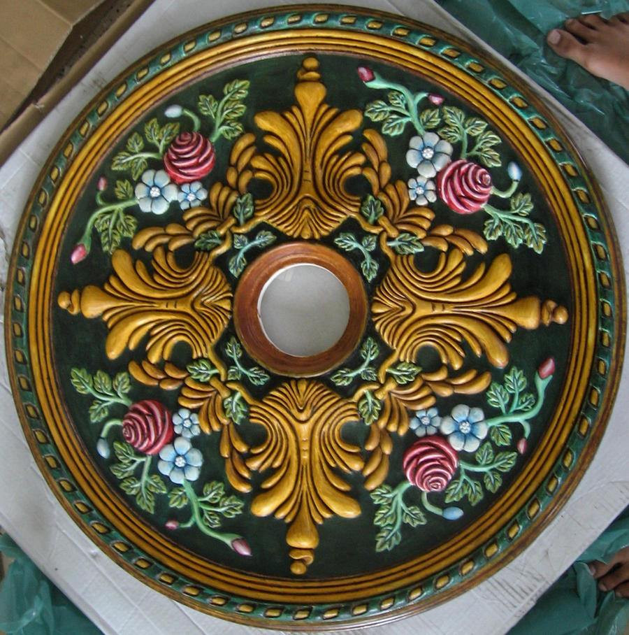 Ceiling Rosettes At Lowe S : Ceiling medallion ii by anamania on deviantart