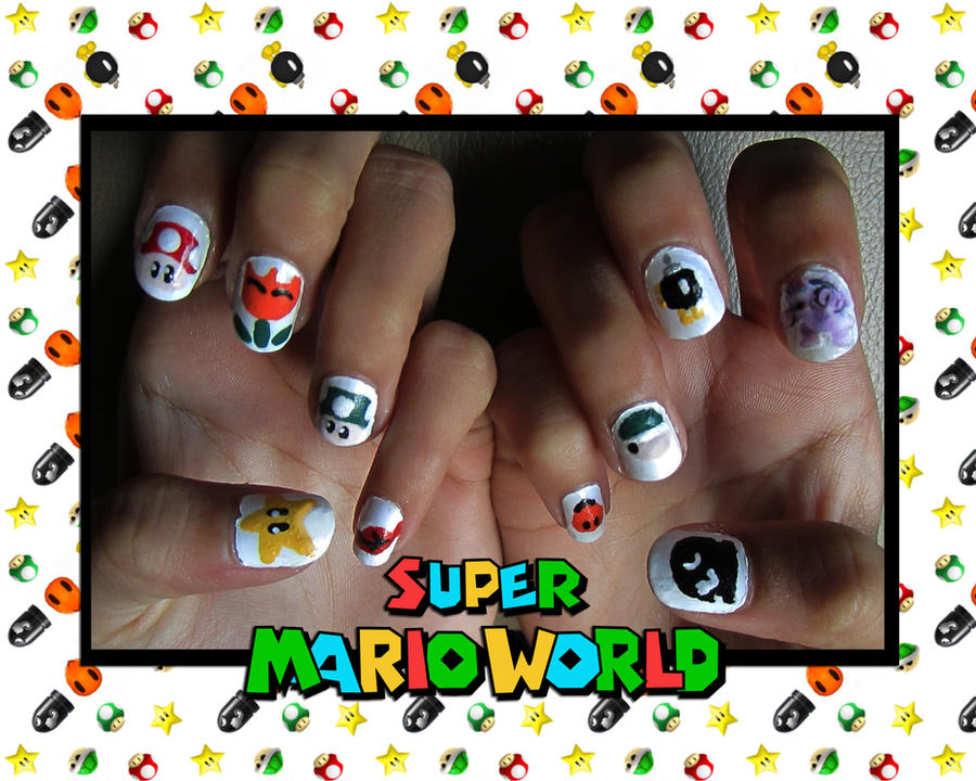 Super Mario World Nail Art by trentsxwife on DeviantArt