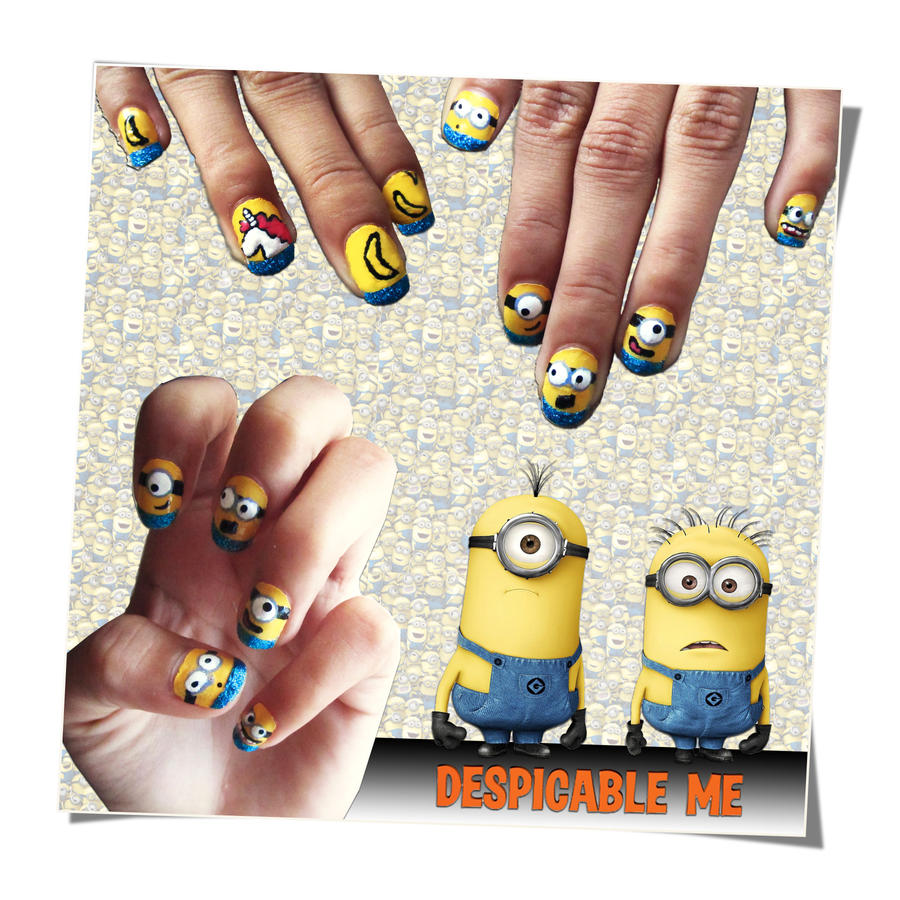 Despicable Me Nail Art by trentsxwife on DeviantArt