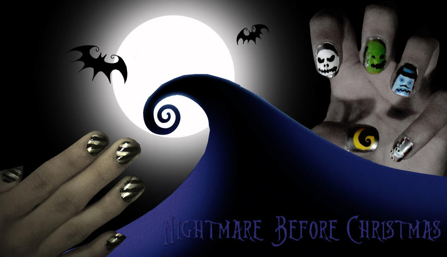 Nightmare Before Christmas Nail Art by trentsxwife on DeviantArt