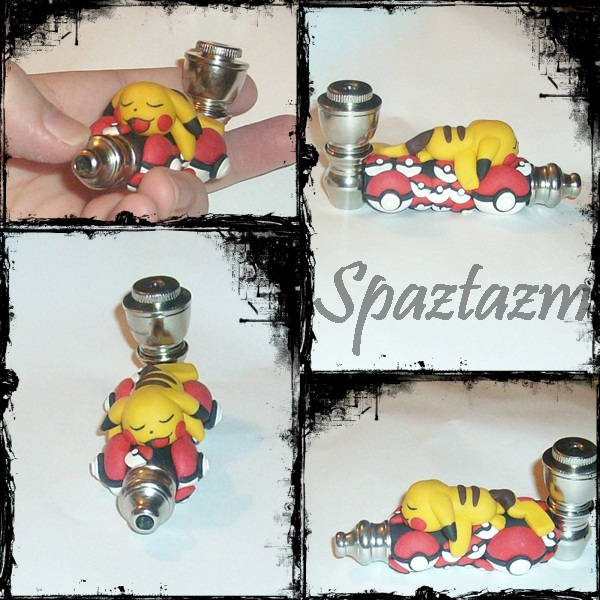 Pokemon pikachu pipe by spaztazm
