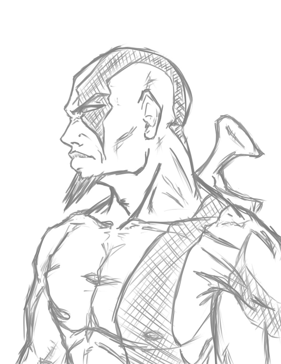 Kratos Drawings Coloring Pages