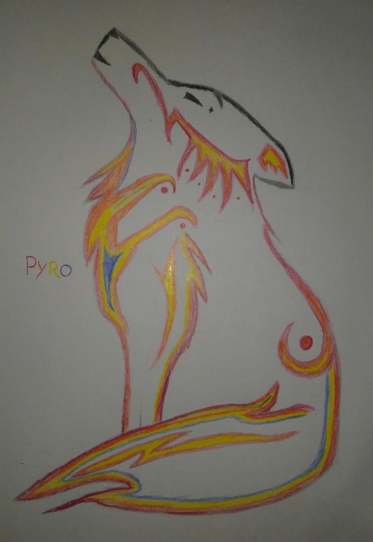 Pyro Wolf by Master-Otkau-Dark