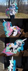 Princess Celestia Plush by mastertortilla27