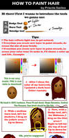 How to paint hair - 10 easy steps
