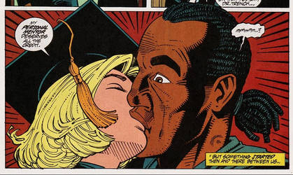 Marvel Interracial kiss Nightwatch and Ashley Croi