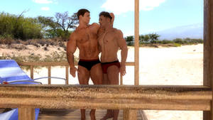 Chris and Piers At The Beach (NivenField)