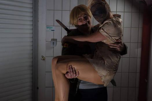 James Sunderland and Silent Hill Nurse Cosplay 1