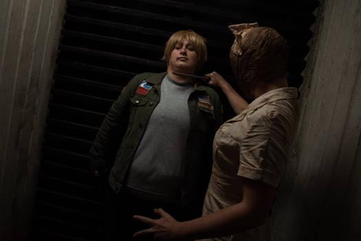 James Sunderland and Silent Hill Nurse Cosplay 2