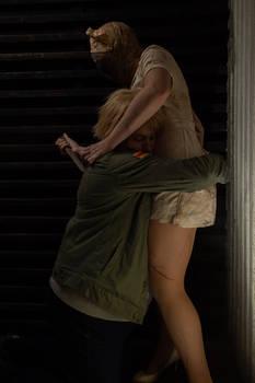 James Sunderland and Silent Hill Nurse Cosplay 3