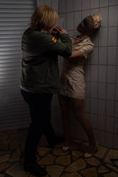 James Sunderland and Silent Hill Nurse Cosplay 4