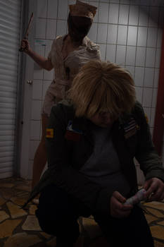 James Sunderland and Silent Hill Nurse Cosplay 6