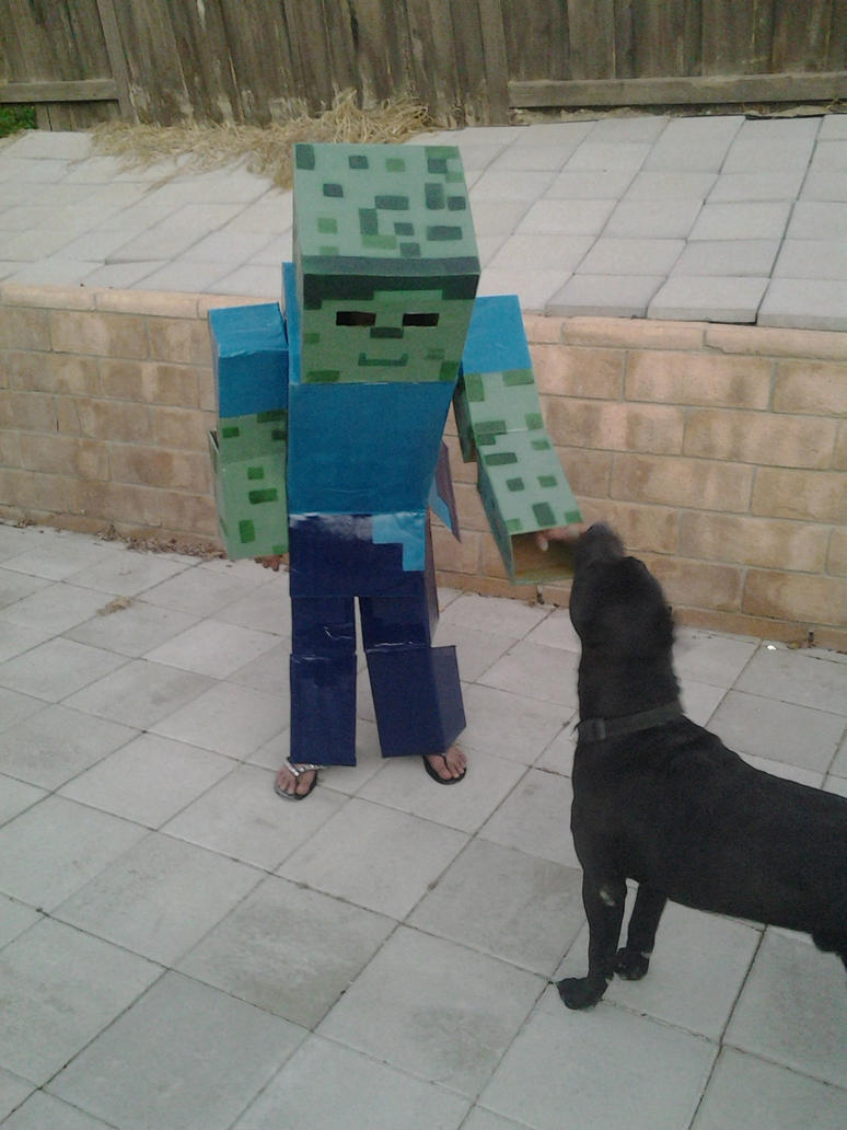 Minecraft Zombie by rvbass ... : minecraft dog costume  - Germanpascual.Com