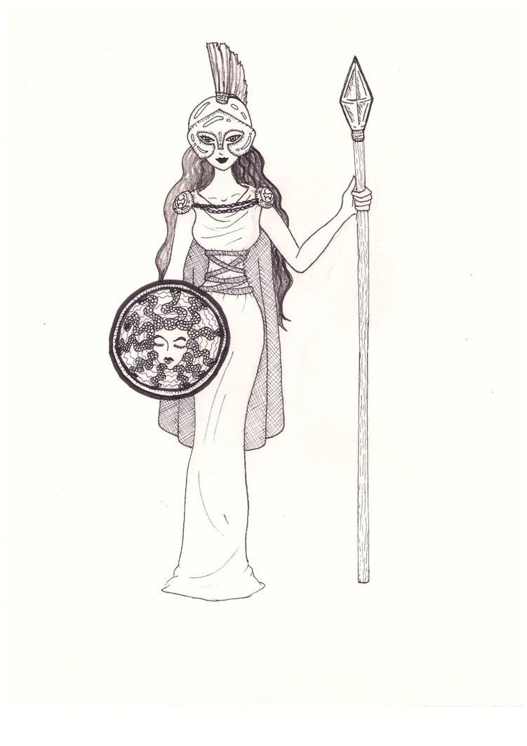 Athena Goddess of War by lovelyhetalia on DeviantArt