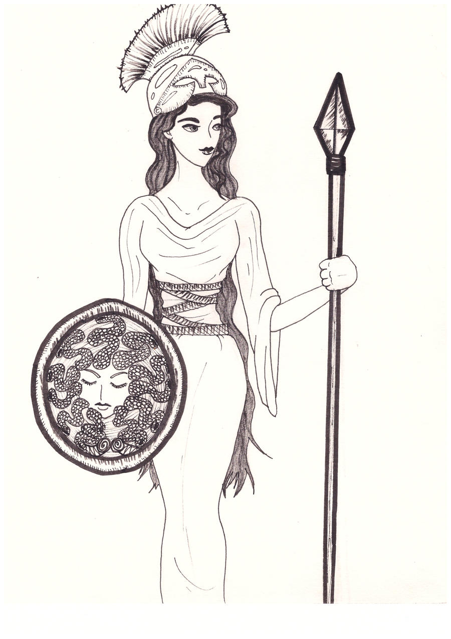 Uncategorized Drawings Of Greek Goddesses athena goddess of wisdom and war drawing how to draw step by greek mythology