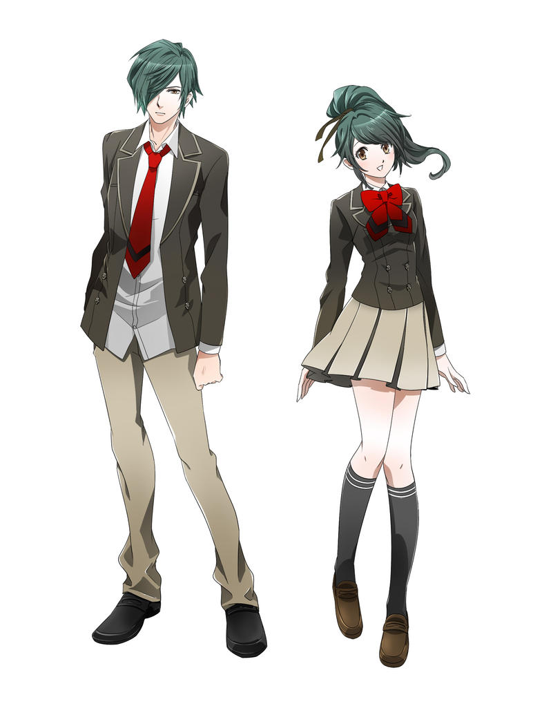 Anime Style Male And Female School Student By Animerious