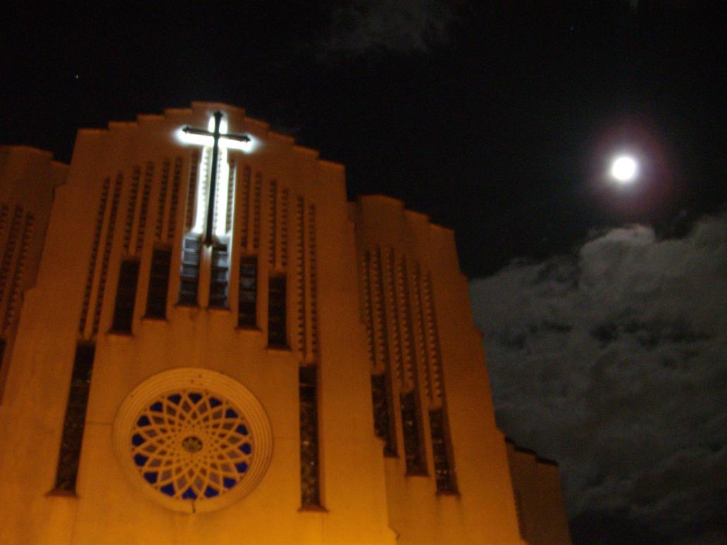 Moonlit Church by kookoomonster