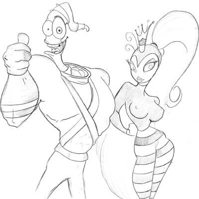 earthworm jim by papersouls