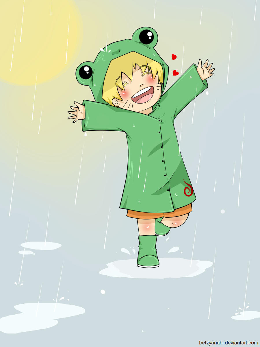 naruto in the rain by BeTzYAnAhI