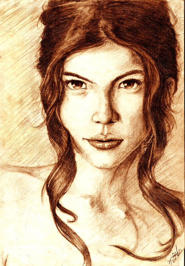 Rhian Ramos Portrait Sepia By Raixhell On Deviantart