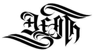 death + life ambigram
