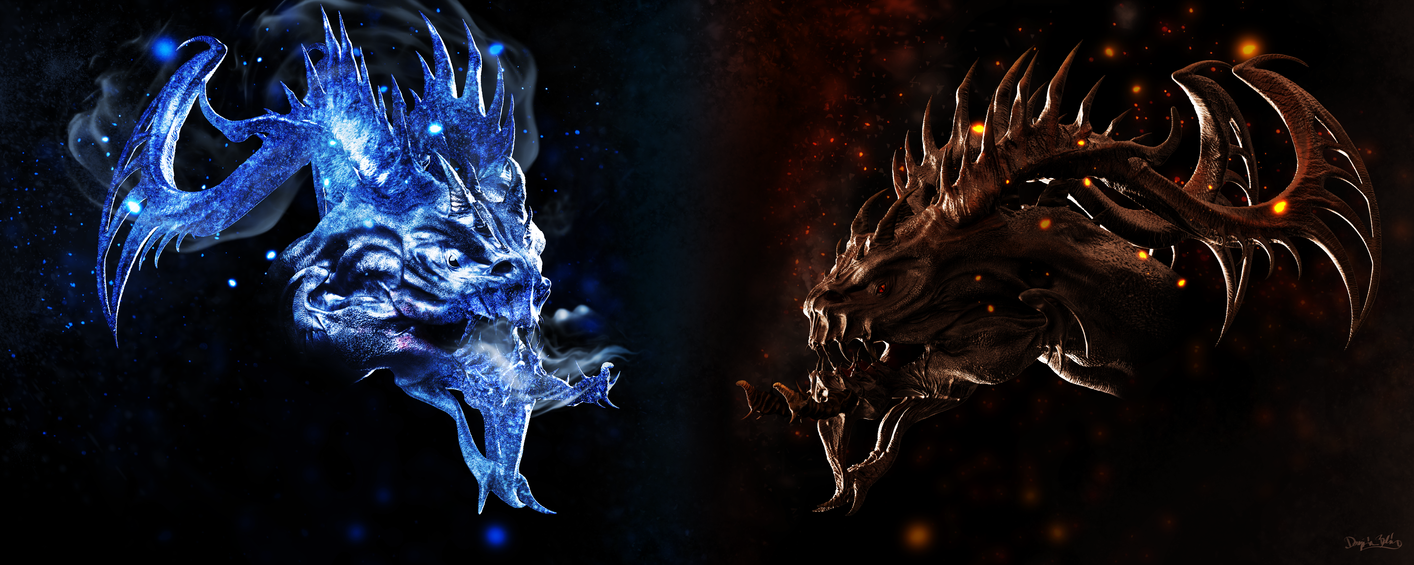 Frostfire - Dragon Doodle by blazs91