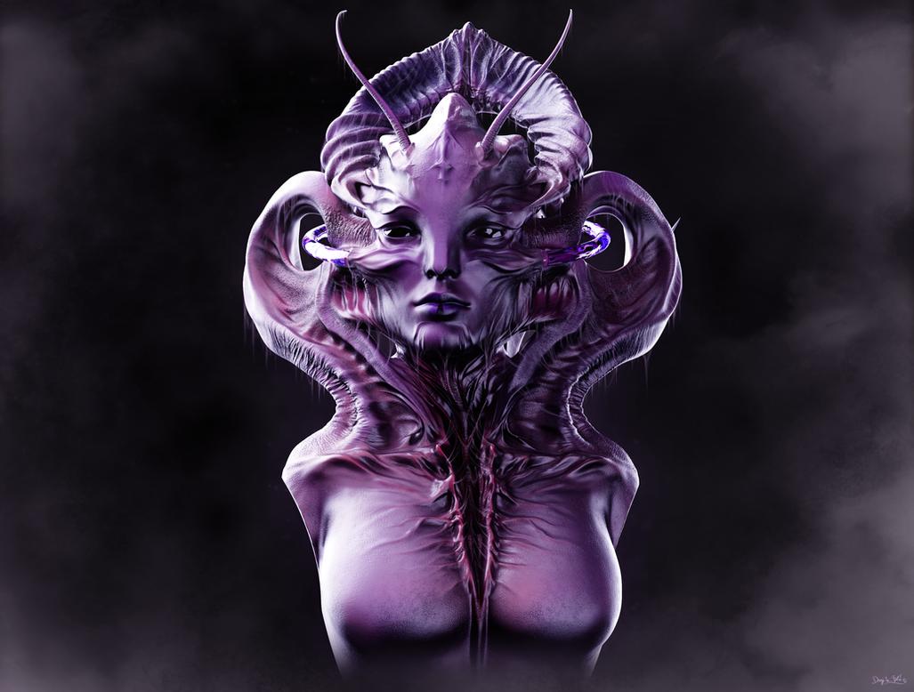 Miss Extraterrestrial - Alien Concept Doodle by blazs91