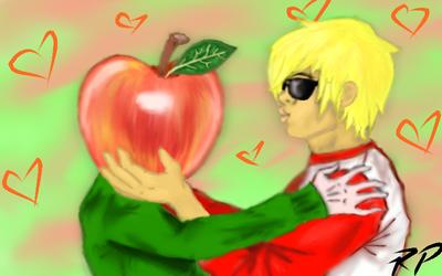 Dave Strider: Apple Love (With speed paint) by SpiralWolf27