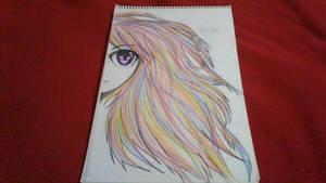 Rainbow hair (practice)