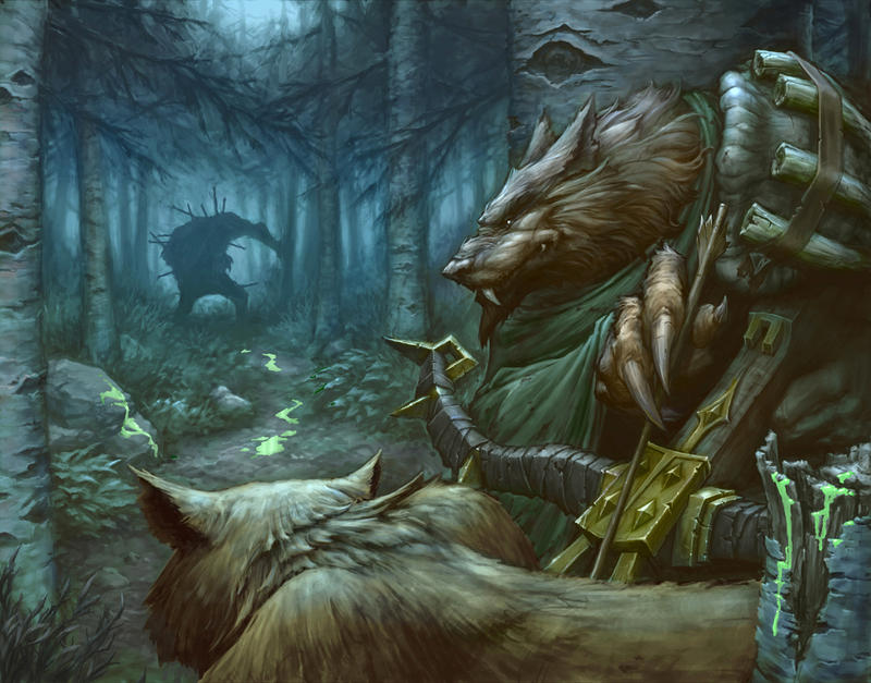 Worgen Hunter by peetcooper
