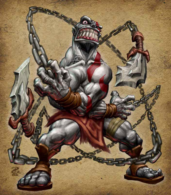 God of War Kratos DORC by peetcooper