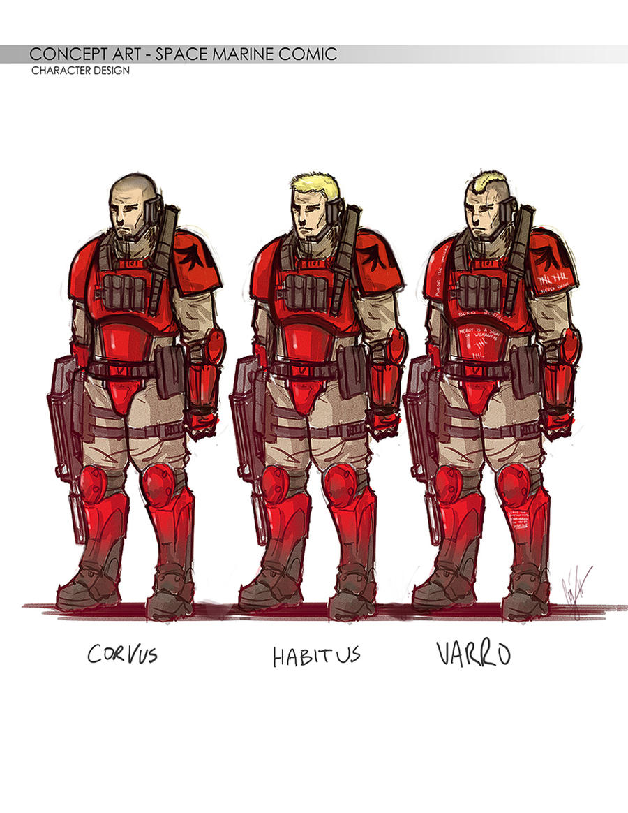 The Blood Angels Scouts by RedSkittlez-DA