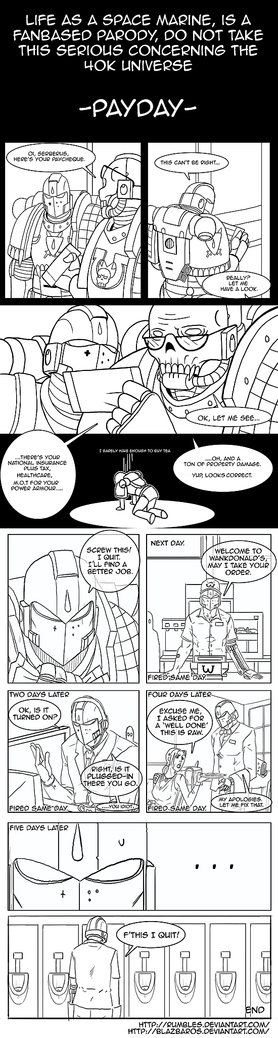 [Humour 40K] Collection d'images humoristiques - Page 37 Life_as_a_space_marine___payday_by_rumbles-d5is4yi