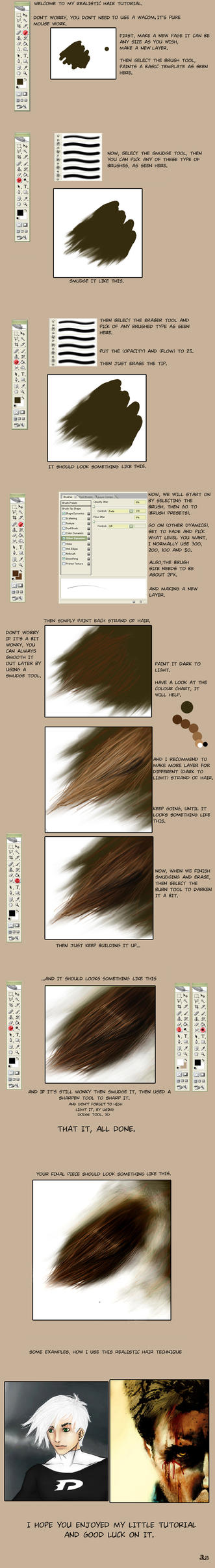 How to make realistic hair by RedSkittlez-DA